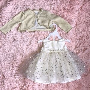 Baby girl CARTERS dress and sweater